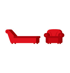 couch and chair of psychologist psychotherapist vector image