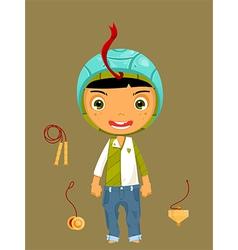 cute boy snake vector image