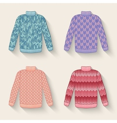 Cute sweater set vector