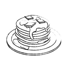 Delicious pancakes breakfast vector