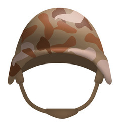 Desert camo helmet mockup realistic style vector