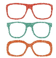 Dotted eyeglasses set vector image