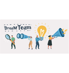 dream team team work leadership qualities vector image