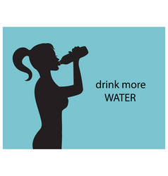 drink more water for health vector image