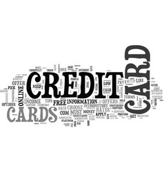 Essential tips on how to get a credit card text vector
