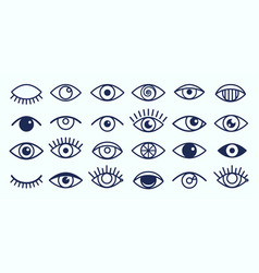 Eye icons collection vector