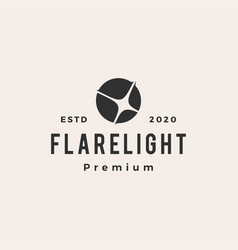 flare light hipster vintage logo icon vector image