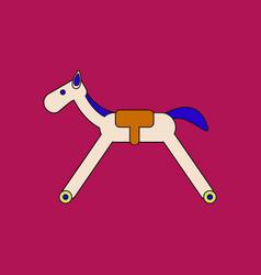 Flat icon design collection rocking horse vector