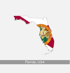 Florida map flag vector
