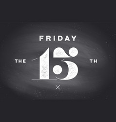 friday 13th vector image
