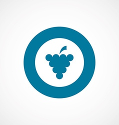 Grapes bold blue border circle icon vector