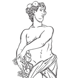 Greek god in line style great template for vector