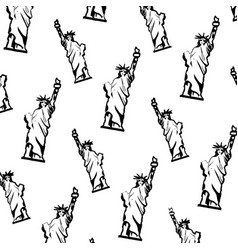 Grunge statue liberty sculpture design background vector