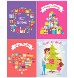 happy birthday merry christmas vector image