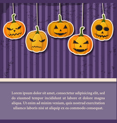 happy halloween vintage template vector image