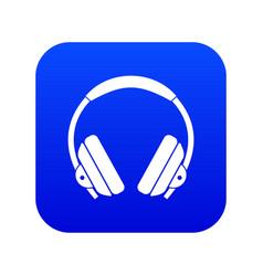 headphone icon digital blue vector image