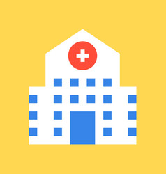Hospital building medical and related vector