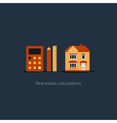 House maintenance calculation icon living expenses vector