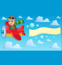 image with airplane theme 2 vector image