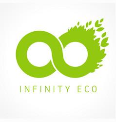 Infinity green eco logo concept vector