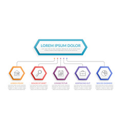 infographic template with 5 steps vector image