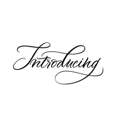 Introducing lettering vector