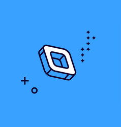 Isometric icon square shape with rounded corners vector