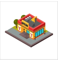 Isometric sports club fitness gym vector