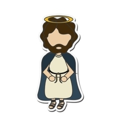 Joseph holy family design vector