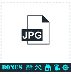 JPEG icon flat vector image