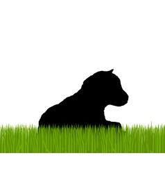 Kid silhouette vector image