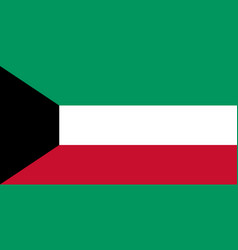kuwait flag official colors correct proportion vector image