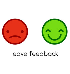 Leave feedback positive and negative color vector