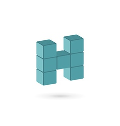 Letter H cube logo icon design template elements vector image