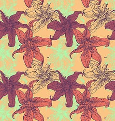 lilies seamless texture vector image