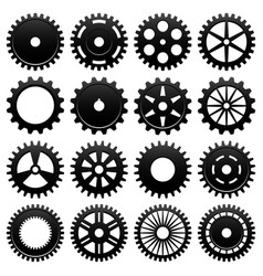 machine gear wheel cogwheel 16 specially vector image