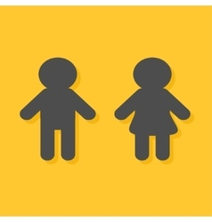 Man and Woman icon Male Female gender symbol vector