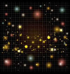 molecule structure chemical golden pattern vector image