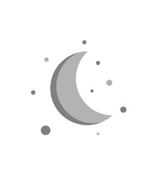 moon flat design isolated on white background vector image