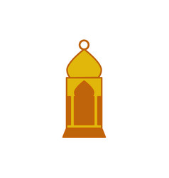 mosque shape hanging lantern graphic design vector image