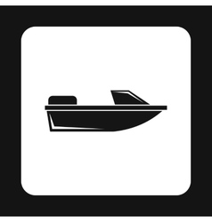 Motorboat icon simple style vector