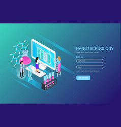 Nano technology isometric composition vector