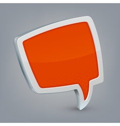 Orange cloud speech vector image