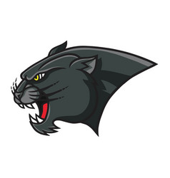 Panther head mascot retro logo design template vector