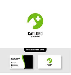 Pet care logo template free business card vector