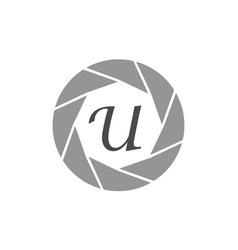 Photography service letter u vector