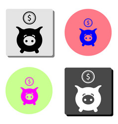 piggy bank flat icon vector image