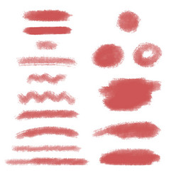 pink hand drawn brush strokes marker text vector image