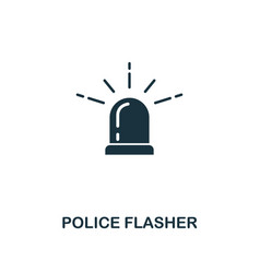 police flasher icon premium style design from vector image