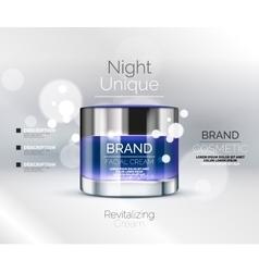 Premium cream ads vector